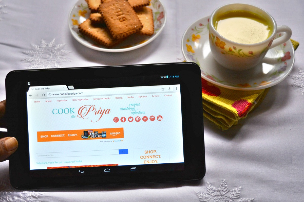 Cook like Priya - Dell Venue Tab 7 Review (Product Review)