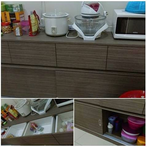 Pre made side kitchen cabinet free delivery within miri for Pre built kitchen cupboards