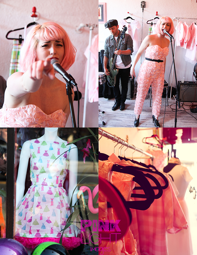 Kenley Collins from Project Runway is singing her heart out with Jetblack Bullseye and shows off the new line for the pink ladies