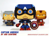 Captain America Mini Papercraft