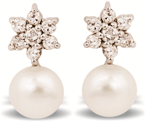 Tanya Rossi Pearl Drop Earrings TRE 421 Rs 1250