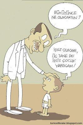 İşsiz Olacam, 3 Tane De İşsiz Çocuk Yapacam - Komik Karikatür