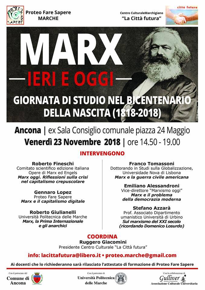 Un'iniziativa su Marx e un ricordo di Domenico Losurdo