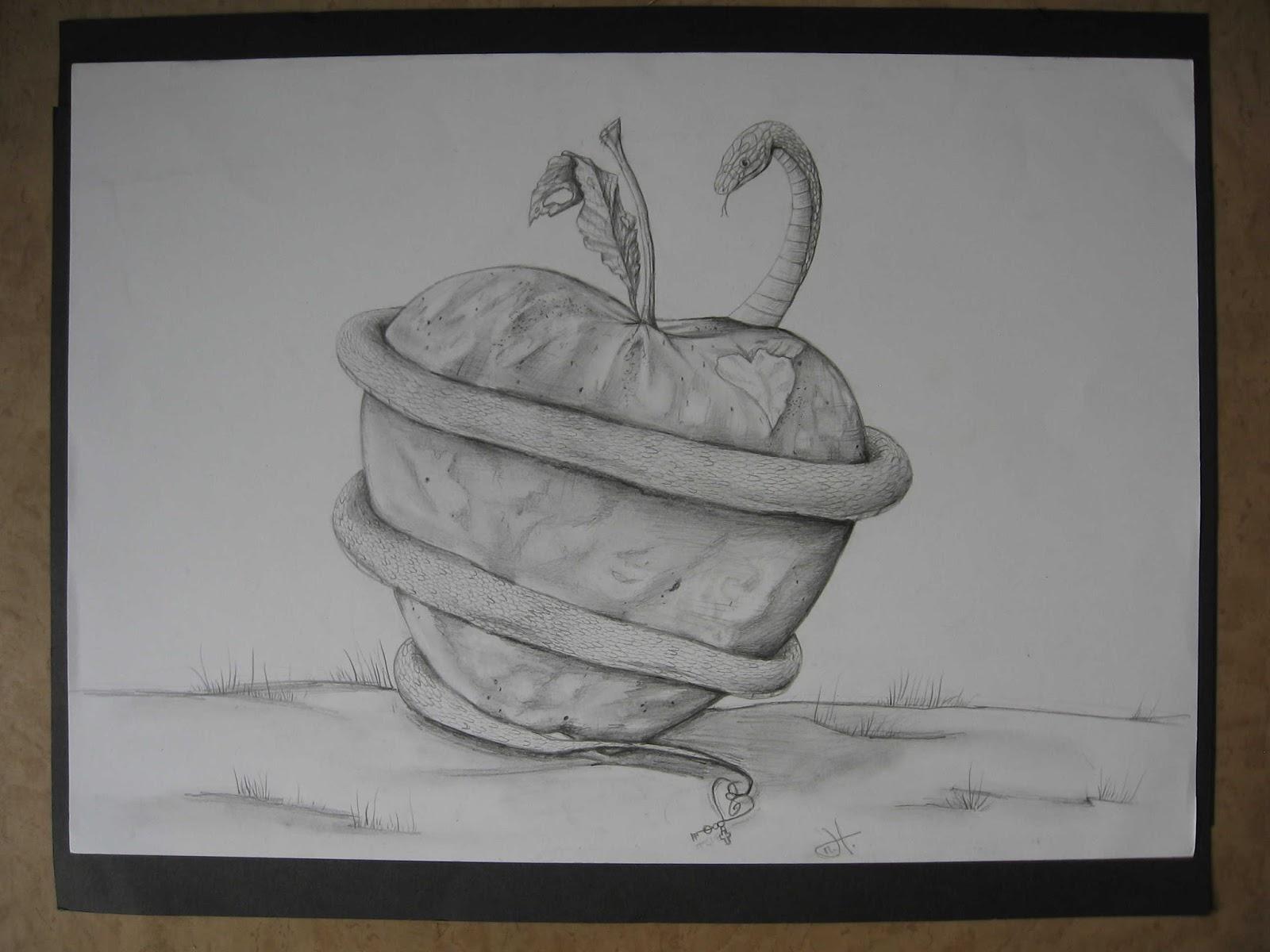 Kresba Navrhy Odevu Rucni Prace A Fotografie Jablko A Had