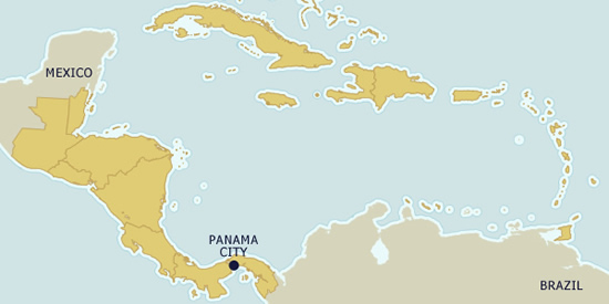 "Panama on the map - ""Crossroads of the World"""