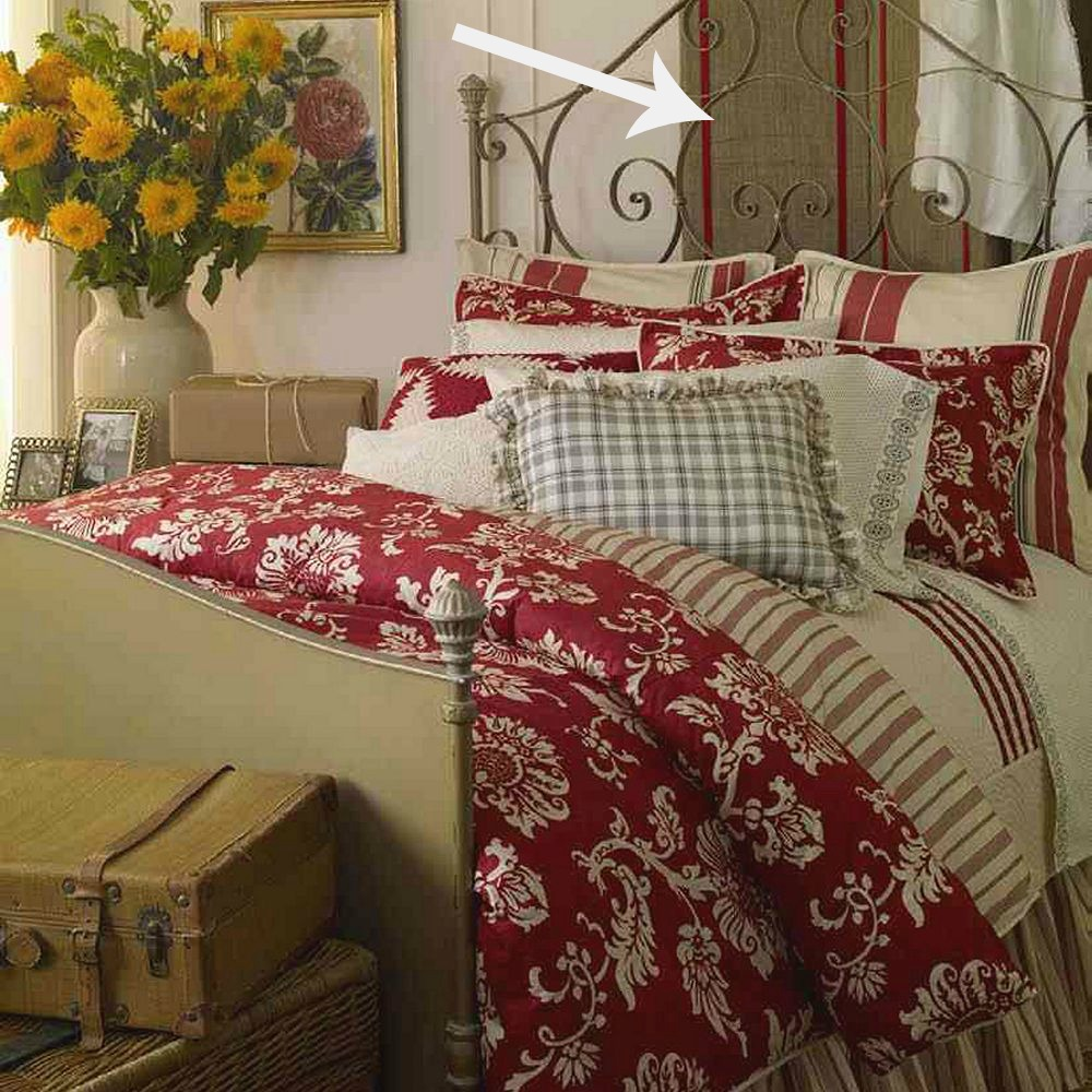 """Bedroom With Red Curtains Luxury Bedroom Curtain Ideas Bedroom Interior Design Rules Bedroom Benches Images: The Cozy Old """"Farmhouse"""": We FINALLY Have Curtains"""