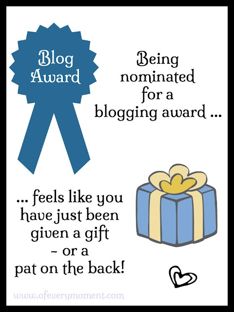 It feels like you have just received a present when you get a blog award