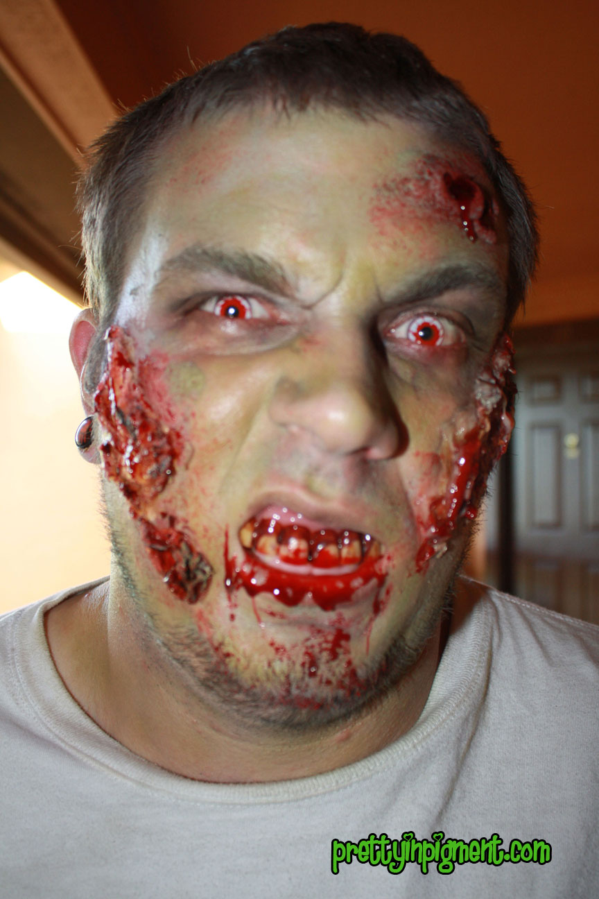 how to create a zombie face with makeup