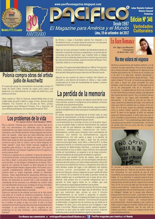 Revista Pacífico Nº 346 Variedades Culturales