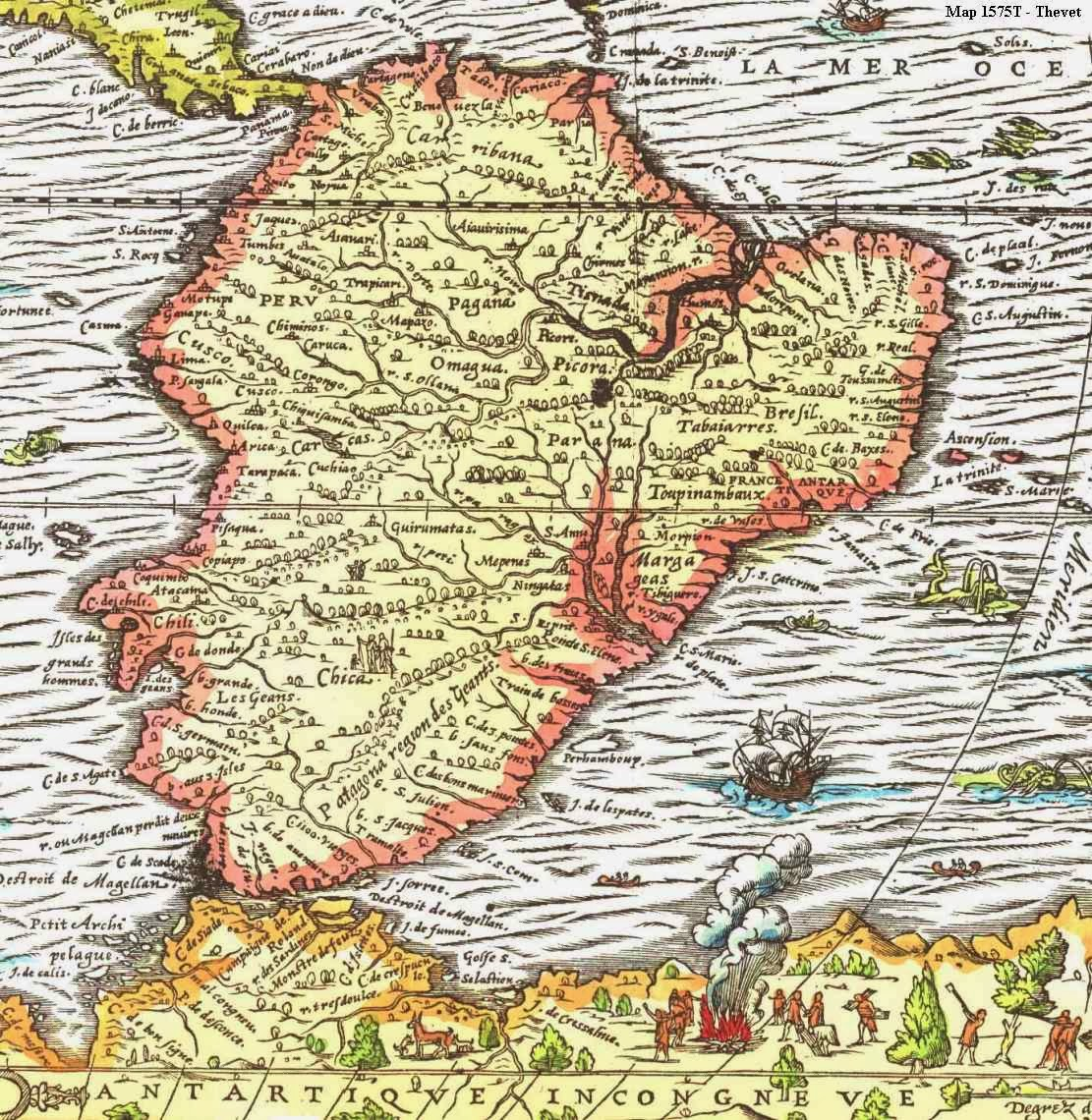 Online Maps South America Early Maps - Early maps of america