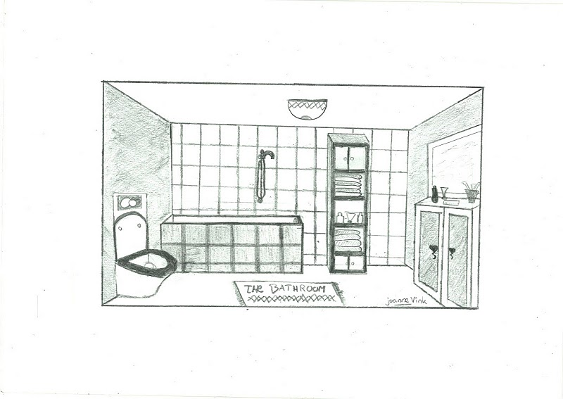 Tekening badkamer keukenarchitectuur for Tekening badkamer maken