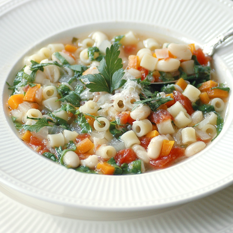 Spinach Pasta and Fagioli Soup