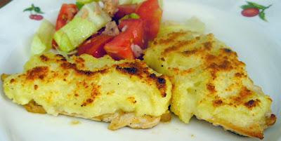 La cocina con cari o receta de pechuga de pollo napada for Pechugas de pollo al horno con patatas