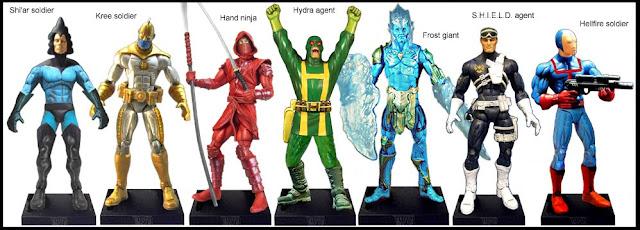 <b>Wave 55</b>: Shi'ar, Kree & Hellfire soldiers, Hand ninja, Frost giant, Hydra and Shield agents