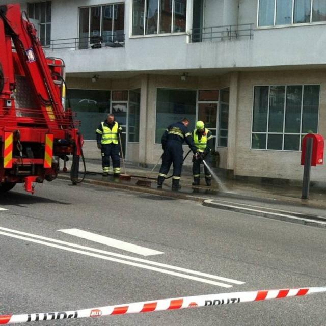 Blodet spules bort efter selvmordene fra Klintegaarden, Skovvejen, Aarhus
