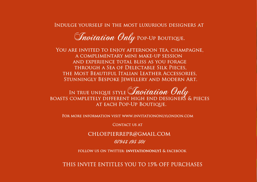 Wmcentury Invitation Only Pop Up Boutique Event At Becca London