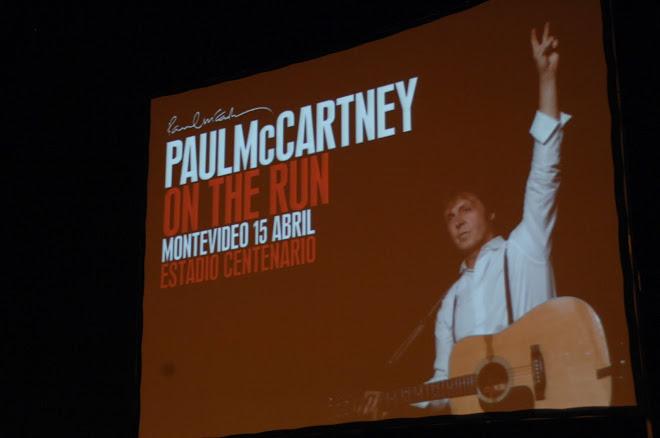 PAUL MC CARTNEY ON THE RUN EN URUGUAY