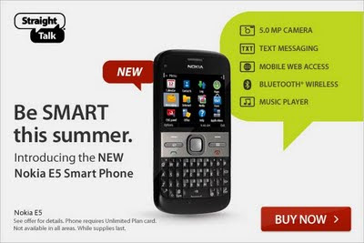 Straight Talk Blog: New Nokia E5 Smart Phone from Straight Talk