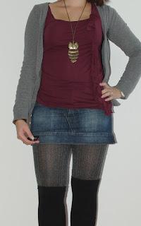 [Fashion] Autumn´s calling: Jeansrock, Overknees & Lederjacke: Zwiebellook // Jeansskirt, Overknees & Leather Jacket