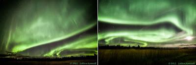 Auroras en Canadá, 08 de Octubre 2012