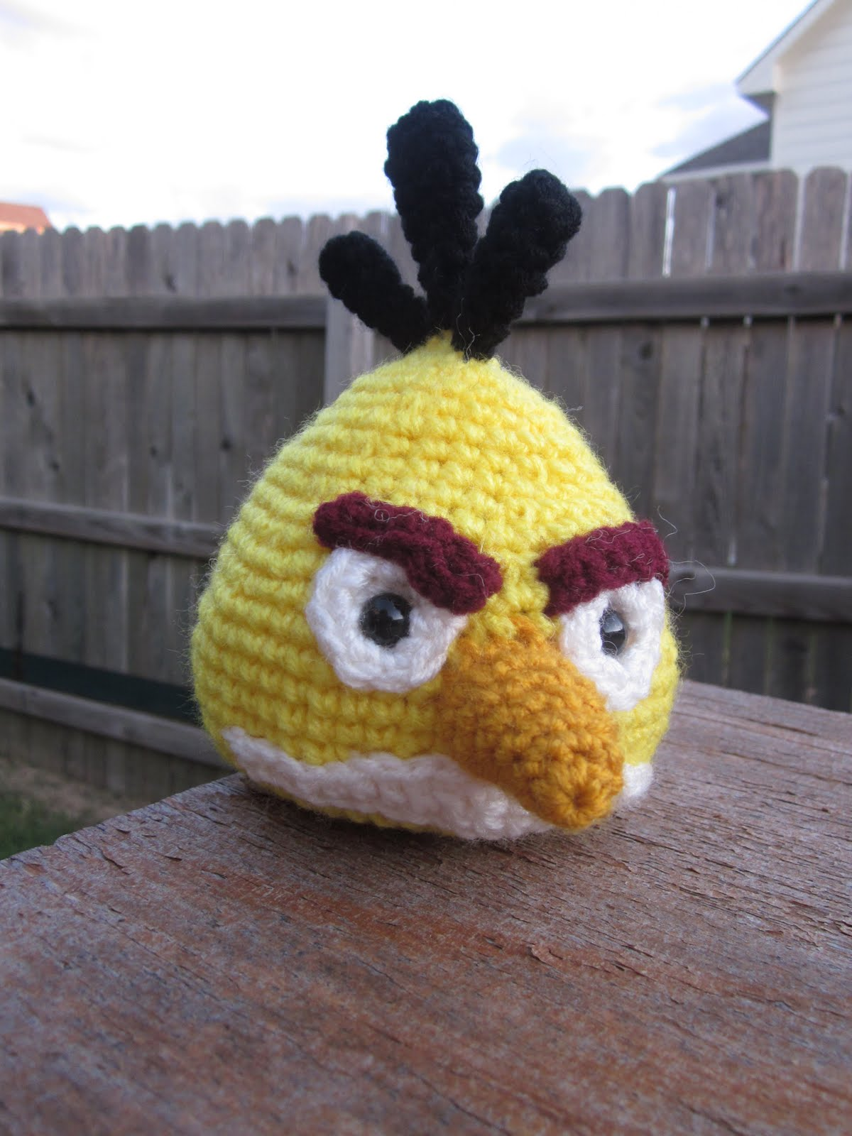 Lemmy Loop: Yellow Angry Bird Amigurumi