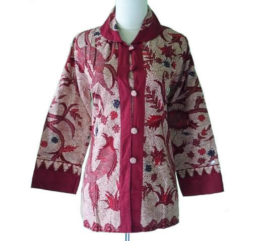 baju blus batik wanita