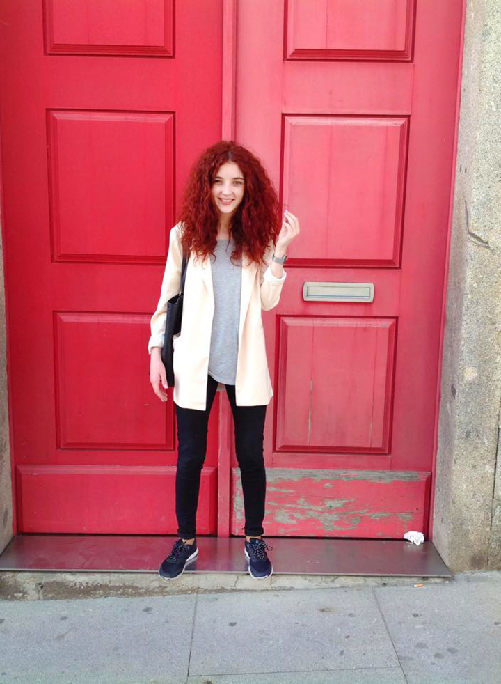 Red Doors and a Basic Outfit