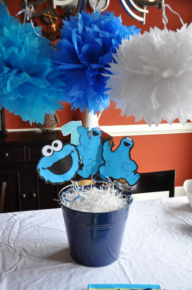 Cookie monster cookies and milk birthday party karas
