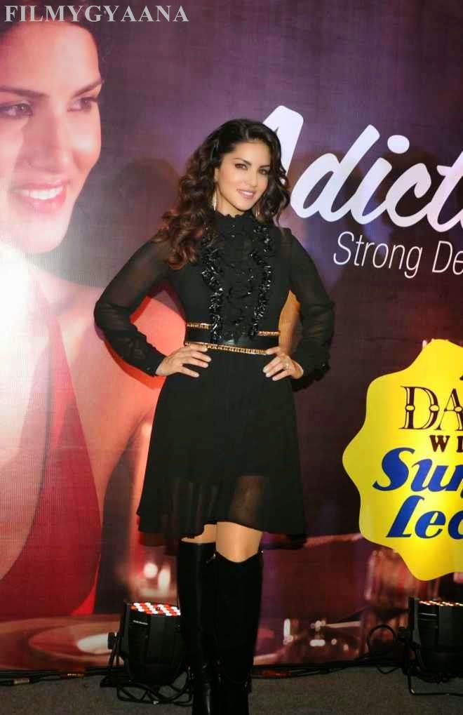 sunny leone latest best photos in black dress