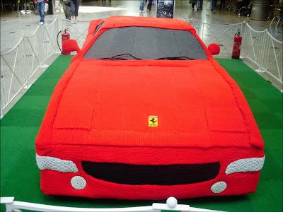 Knitted Ferrari Seen On www.coolpicturegallery.us