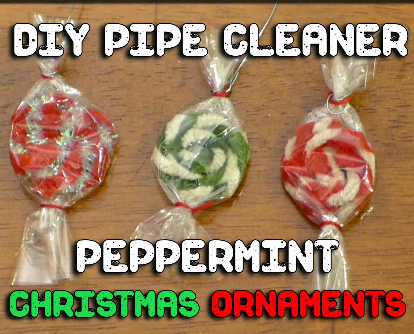 EasyMeWorld 3 Easy Pipe Cleaner Christmas Ornaments