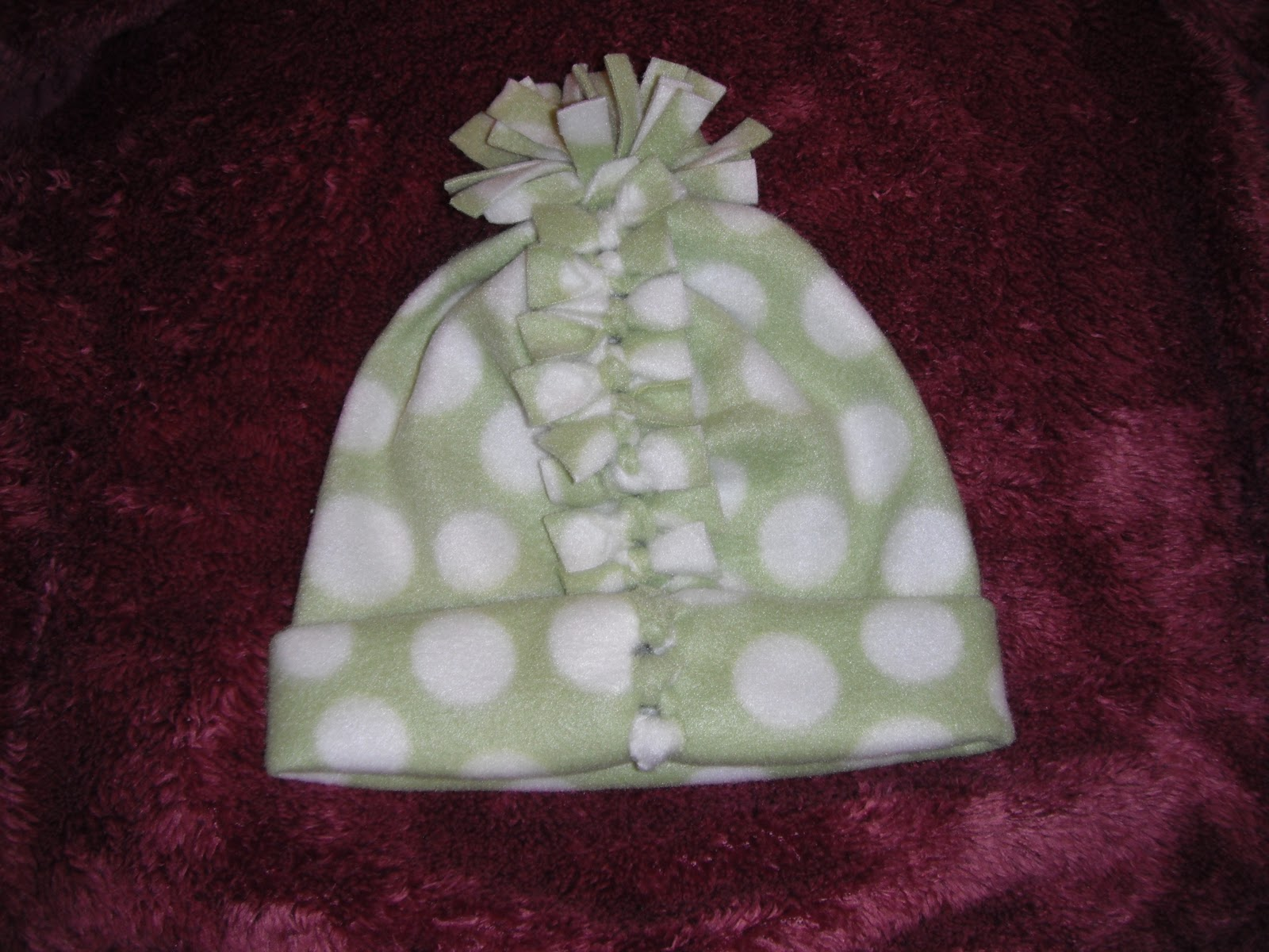 Cap for the baby. We sew from fleece