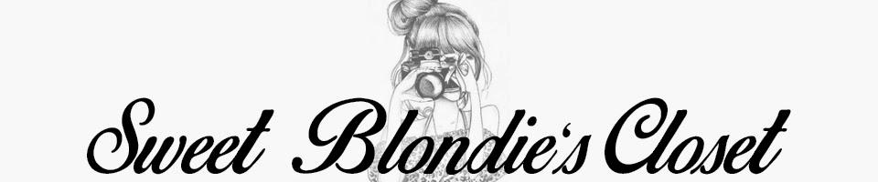 Sweet Blondie's Closet