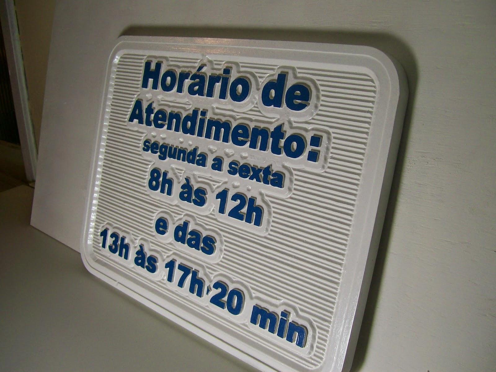 placa de horário