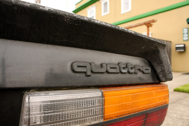 1985 Audi 4000S Quattro badge
