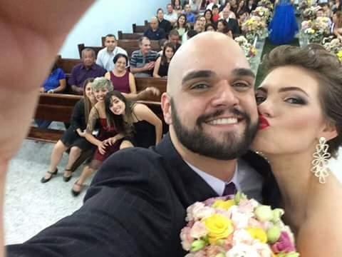 André meu filho e sua mulher Priscila