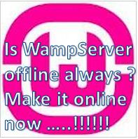 wamp server offline always make it online green orange red