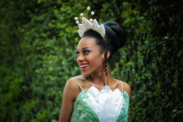 vestido princesa tiana