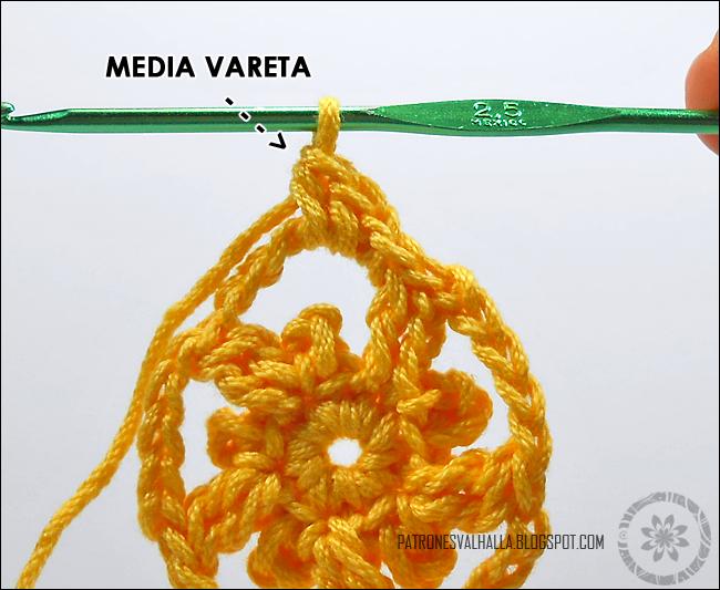 Estrella a Crochet #4 (foto-tutorial) - PATRONES VALHALLA: Patrones ...