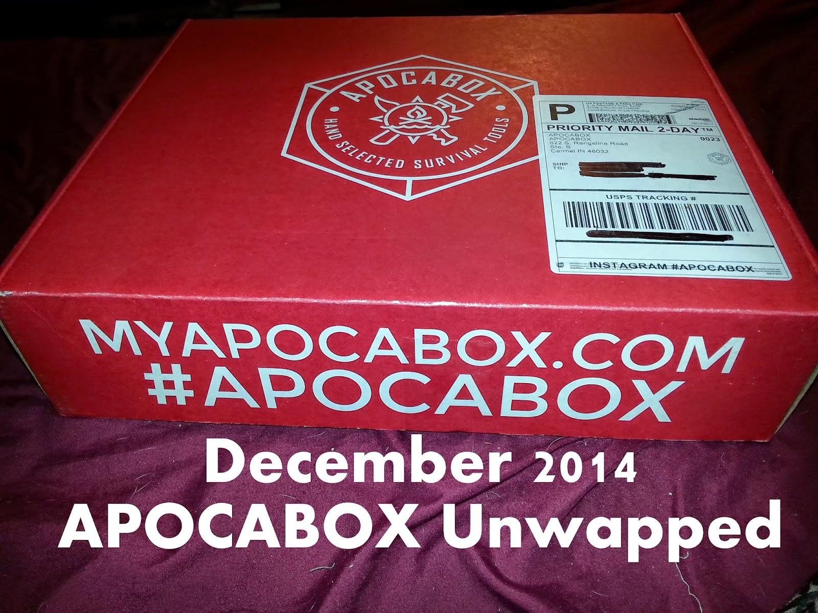 teotwawki prep december 2014 apocabox unwrapped