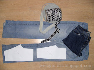 recycled jeans 1    wesens-art.blogspot.com