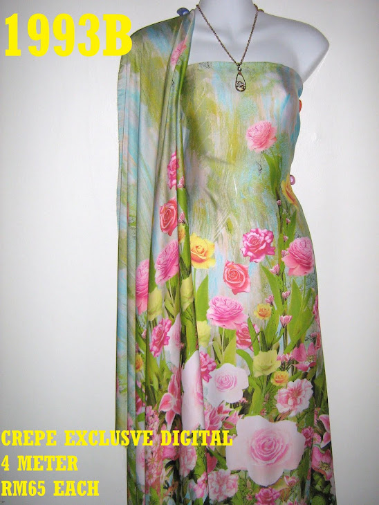 CP 1993B: CREPE EXCLUSIVE DIGITAL PRINTED, 4 METER