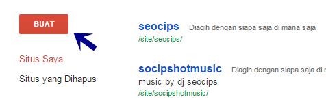 Buat google site