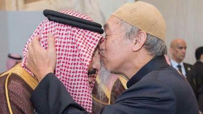 Begini momen, saat Ulama keturunan Cina mencium kening Raja Salman