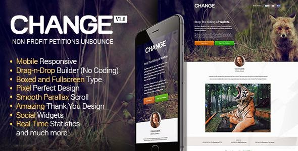 Change - Petitions Responsive Unbounce Template