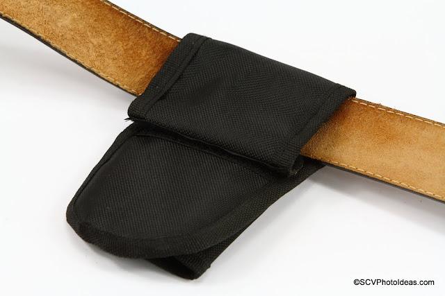 Triopo Monopod Holster rear flap rolled on belt