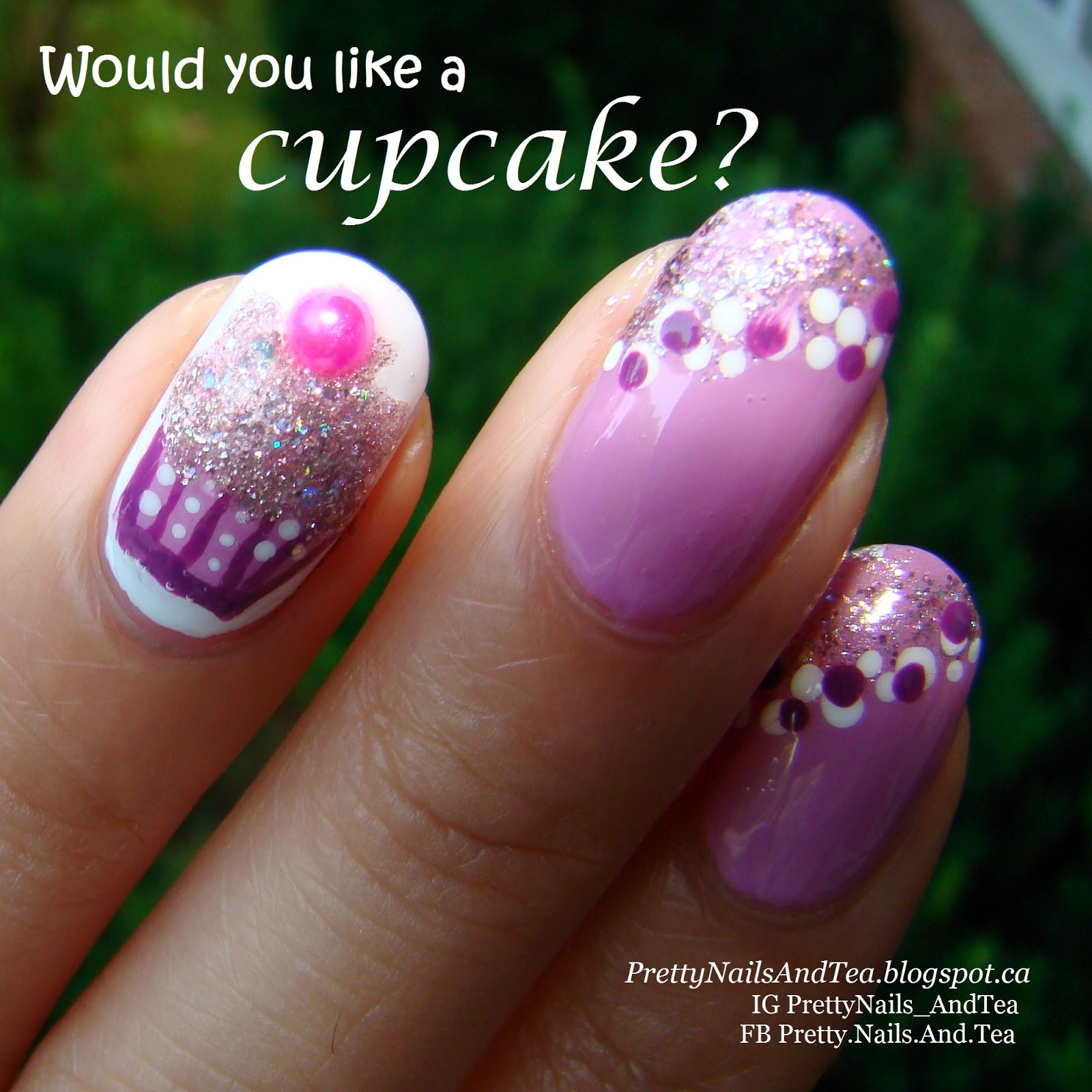 Cupcake nailart | Pretty Nails And Tea