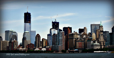 Lower Manhattan, as seen from New York Harbor