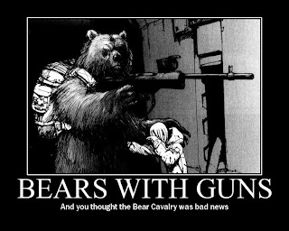 funny weapons fail picture bears with guns drawing