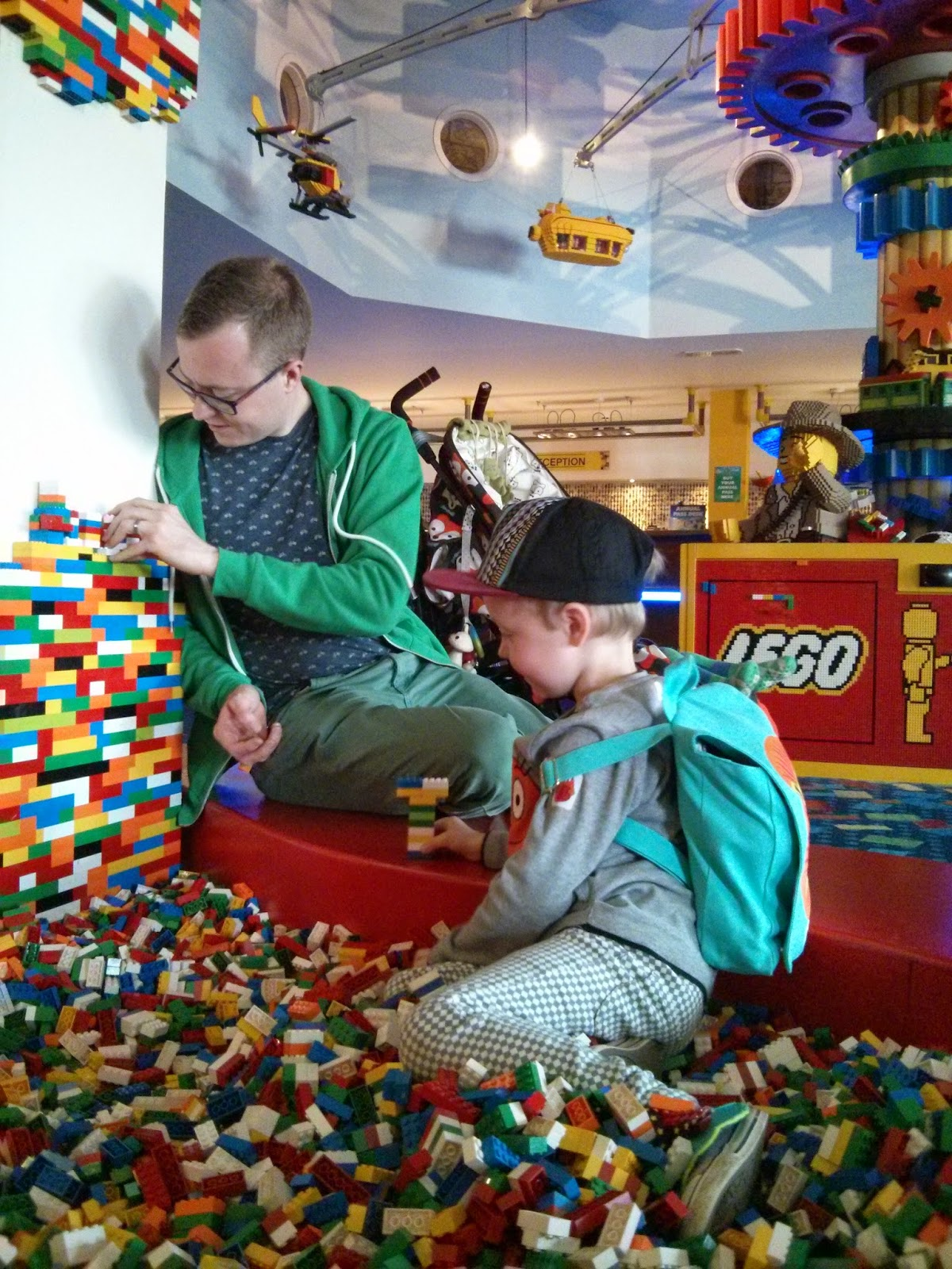 Legoland Hotel Reception - Playing in the Brick Pit